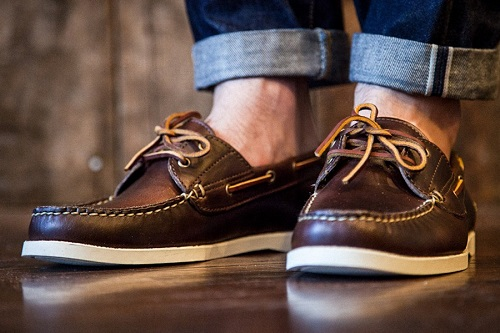 Brown Man Boat Shoes
