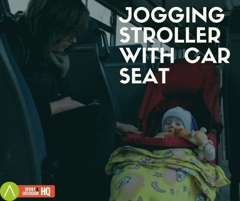 Jogging Stroller with car seat combo